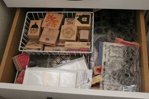 Craft Room Organization: Magnetic Stamp Wall