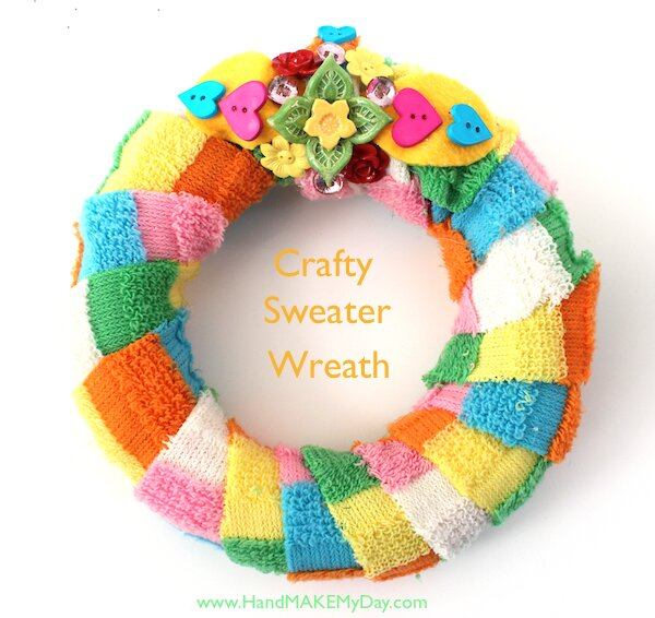 Craft Wars Retro Christmas Easter Sweater Wreath
