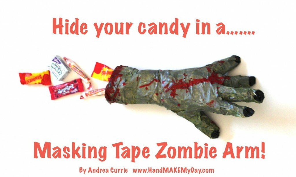 The Walking Dead Masking Tape Zombie Arm Craft