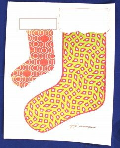 christmas stocking, template, download, crafts, andrea currie, paper crafts, diy