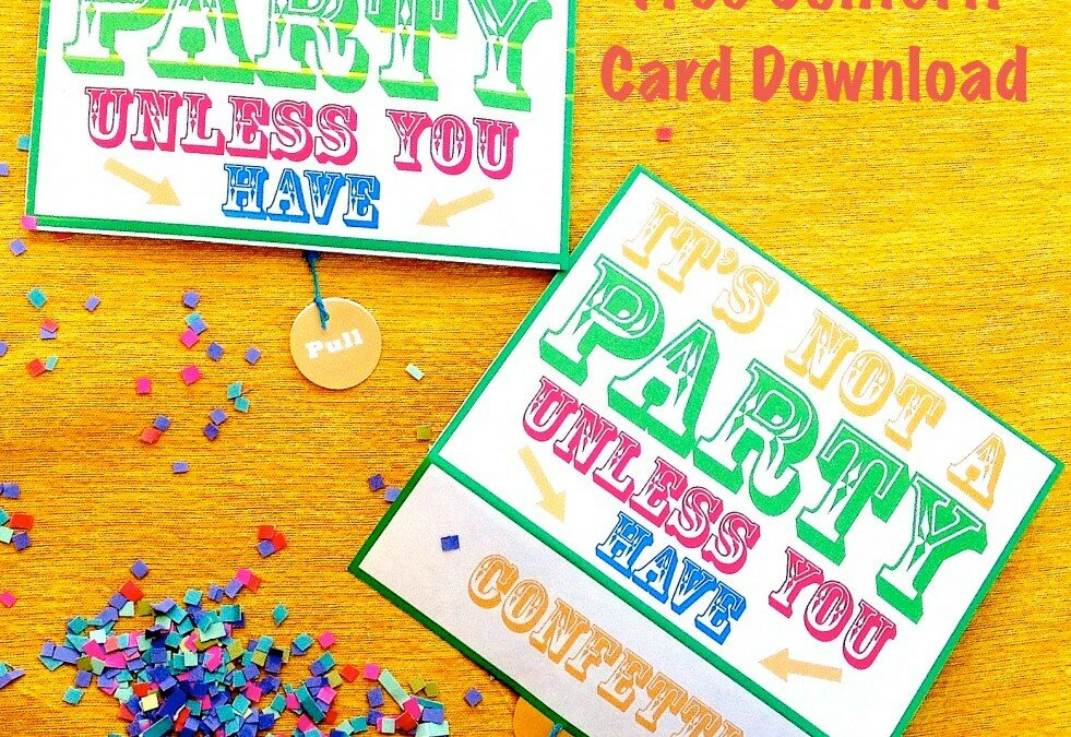 World Card Making Day Free Confetti Card Download!