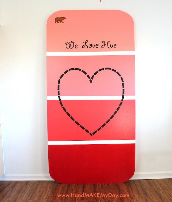 A Giant Paint Chip Valentine