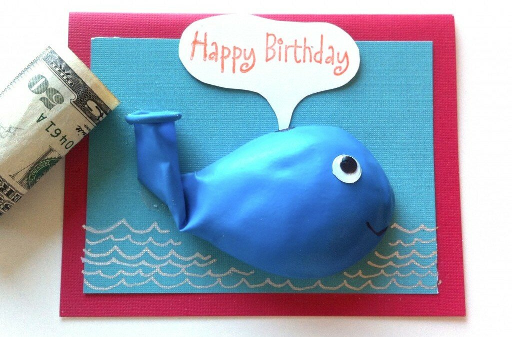 He Made a Whale Birthday Balloon Card