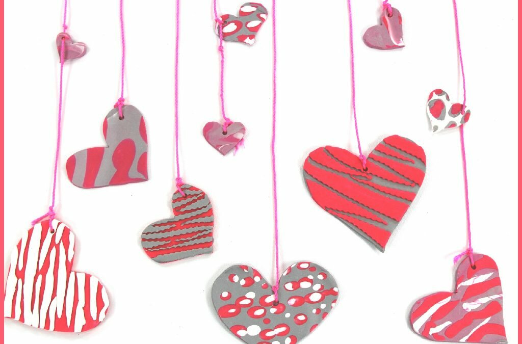 Polymer Clay Valentine's Day Hearts
